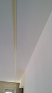 taping ceiling for painted border on ceiling texture
