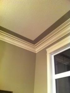 ceiling texture with painted border and cove in texture king calgary